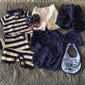 Boys 3mo summer clothes pkg